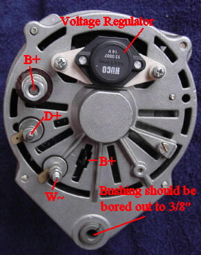 Alternator Wiring Diagram on Wiring Schematics  This Unit May Actuallybe A 90a Alternator From A
